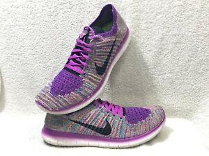 Nike Free RN Flyknit 'Hyper Purple' Women's 8.5 Running Shoes, 8.5