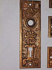 Antique Mallory and wheeler & Co. Eastlake Era Door Knob Backplates M&W Co. 4406