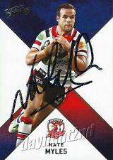 ✺Signed✺ 2011 SYDNEY ROOSTERS NRL Card NATE MYLES