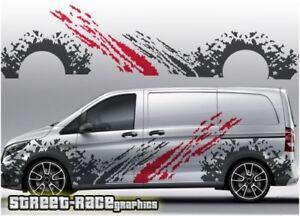 Mercedes Vito RALLY 001 mud splatter decals vinyl decals sport van