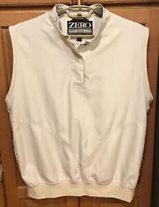 Zero Restriction Womens Golf Vest Jacket Medium M Cream Lined Polyester EUC