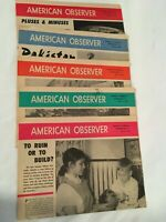 American Observer 1969, Vol. 47, Lot of 5, North Korea, Kennedy, Pakistan