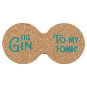 NEW - Double Cork Coaster The Gin To My Tonic - Ideal Gift/Bar Accessory