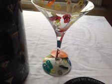Lolita Handpainted Flip Flop Martini Glass, BNWT
