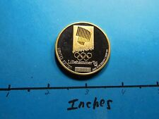 1994 WINTER OLYMPICS HOCKEY LILLEHAMMER NORWAY 999 SILVER GOLD COIN VERY RARE