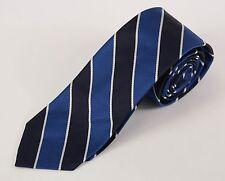"NWOT SOUTHWICK Navy Blue & White Repp Stripe 3"" Silk Trad Ivy Tie"