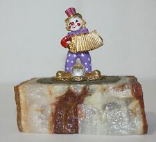 Clown Accordion Petrified wood Crystal Ball Red Purple Hat Gold