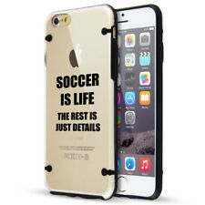 For Apple iPhone SE 5s 6 6s 7 8 Plus Clear TPU Hard Case Cover Soccer Is Life