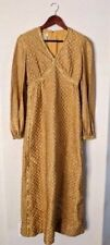 Mr. Mort Women's Dress size 9 Vintage Gold quilted 60s party stan herman costume