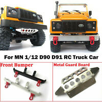 For MN Model 1/12 D90 D91 RC Truck Car Metal Front Bumper Prective Guard Plate