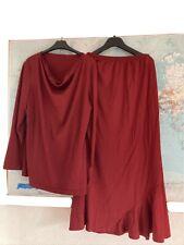 Ladies Chestnut Top With Skirt Size Medium