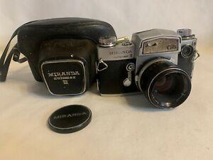 Miranda Automex III Cds 35mm SLR Film Camera Soligor 1:1.9 f=5cm Lens + Case