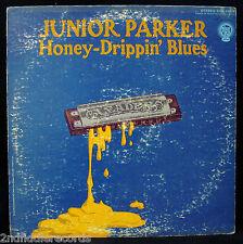 JUNIOR PARKER-HONEY DRIPPIN' BLUES-Rare White Label Promotional Album-BLUE ROCK