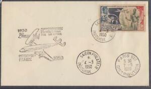 French Indochine FFC Saigon Vietnam to Paris Via Air France 1950