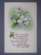 R&L Postcard: Beautiful, Easter Greetings Birn Bros BB, Flowers, Embossed