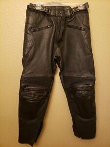 JAYEFO LEATHER MOTORCYCLE PANT BLACK, WAIST//38