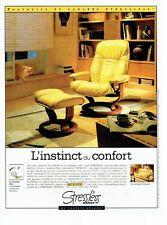 PUBLICITE ADVERTISING 126  1998    les sièges fauteuils Stressless