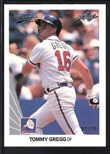 TOMMY GREGG 2012 LEAF MEMORIES 1990 BUY BACK SILVER  #86 BRAVES SP #04/20