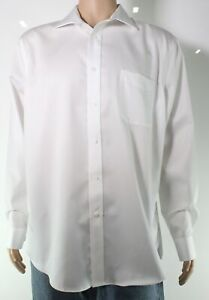 Lauren by Ralph Lauren Mens Dress Shirt White Size 18 Button-Down $79- #224