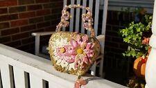 MARY FRANCES Designer Spring Lavender  Beaded Handbag Purse Fashion