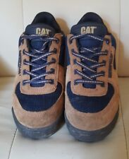 CAT CATERPILLAR BROWN SUEDE TRAINERS, SHOES, SIZE UK 5 WIDE WIDTH, UNISEX