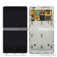 New Black Nokia Lumia 800 Touch Digitizer LCD Display Screen Assembly +Frame