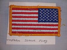 Vintage Patch US American Flag Uniform Sleeve Reversed 3 1/4 x 1 13/16 New
