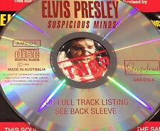 Elvis Presley Suspicious Minds Australian Live CD Super Rare 1993 Don't Be Cruel