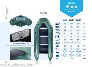 AQUA STORM Schlauchboot STK 300 330 360 380 400 cm STK- Evolution Plane Tasche