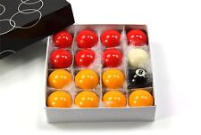 Kids Small 38mm Economy RED & YELLOW POOL Balls - 16 Ball Set – 1 1/2 Inch