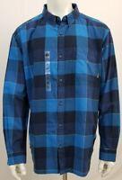 Columbia Long Sleeve Lumberjack Blue Plaid Cotton Shirt NEW Mens 2XL XXL