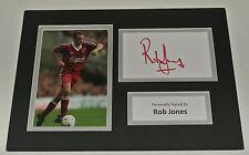 Rob Jones Signed Autograph A4 photo mount display Liverpool Football AFTAL COA