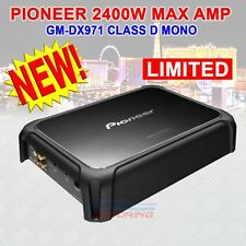 PIONEER GM-DX971 CLASS D MONO AMPLIFIER WITH WIRED BASS BOOST 2400 WATTS MAX NEW