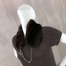 BRUNELLO Cucinelli Damas Vestido De Seda Con Lentejuelas Suéter De Cachemira Tamaño S US2 4