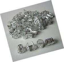 Dread Lock Dreadlocks Braiding Beads SILVER Metal Cuffs Hair Accesories Decor...