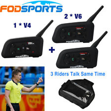 Football Referees Intercom Headset Interphone Walkie Earphone Speaker 2V6+ V4