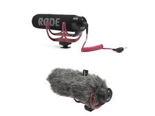 RØDE Videomic GO On Camera Microphone - Black/Red With Deadcat DSLR Vlogger VLOG