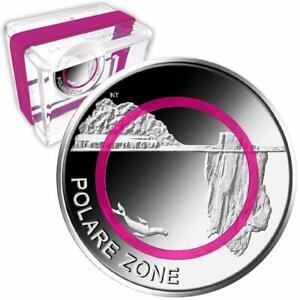 Deutschland - 5 Euro 2021 - Polare Zone - A Berlin - PP - Violetter Polymer-Ring
