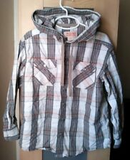Mossimo Supply Co. Boy's Causal Hooded Button Down Shirt Size S (6/7)