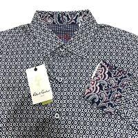 Robert Graham Paisley Sport Shirt Flip Cuff Multicolor Mens S Blue New NWT $198