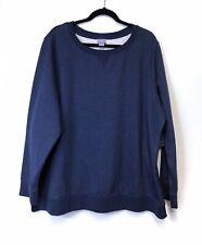 Laura Scott Fleece Crewneck Sweater, 3X, Midnight Heather