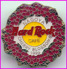 Hard Rock Cafe NAGOYA 1999 Cherry Blossom PIN HRC Logo w/Wreath of Blossom #6107