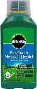 MIRACLE-GRO EVERGREEN MOSSKILL LIQUID,LAWN FOOD+MOSS CONTROL JOBLOT 5 1L BOTTLES
