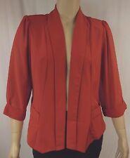 NEW City Chic Sunset 3/4 Sleeve Drapey Blazer Jacket Plus Size XS 14 BNWT #Q3