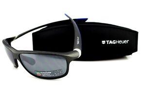 RARE New TAG HEUER 27 Degrees Matte Black Blue Polyvalent Sunglasses TH6021 904