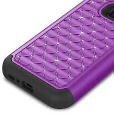For Samsung Galaxy S7 Active Case Purple Hybrid Diamond Bling Skin Phone Cover