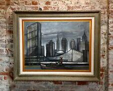 Regis De Cachard - New York Skyline 1961 -Oil painting