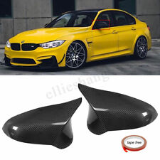 AU Real Carbon Fiber Add-On Side Mirror Cover Caps For BMW F80 M3 F82 M4 15-18
