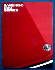 PROSPEKT BROCHURE 1990 SAAB 900 Series (USA)