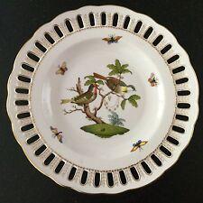 Excellent HEREND pierced plate ROTHSCHILD BIRD #11 8427 - retail $645 - NEW